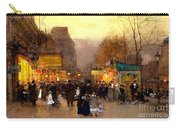 Porte St Martin At Christmas Time In Paris Carry-all Pouch