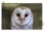 Portrait Of A Barn Owl Carry-all Pouch