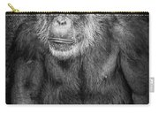 Portrait Of A Chimpanzee Carry-all Pouch