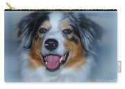 Portrait Of A Dog Lady Carry-all Pouch