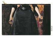 Portrait Of A Lady In Black Carry-all Pouch by William Merritt Chase
