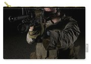 Portrait Of A U.s. Marine Wearing Night Carry-all Pouch