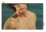 Portrait Of A Young Man On A Sea Shore Carry-all Pouch