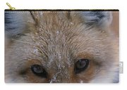 Portrait Of Adult Red Fox Carry-all Pouch