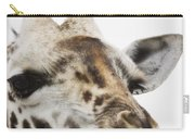 Portrait Of African Giraffe Carry-all Pouch