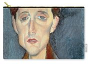 Portrait Of Franz Hellens Carry-all Pouch