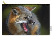 Portrait Of Gray Fox Barking Carry-all Pouch