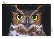 Portrait Of Great Horned Owl Carry-all Pouch