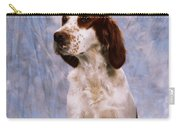 Portrait Of Irish Red And White Setter Carry-all Pouch