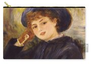 Portrait Of Mademoiselle Demarsy Carry-all Pouch by Pierre Auguste Renoir