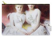 Portrait Of Marthe And Terese Galoppe Carry-all Pouch by Leon Joseph Bonnat