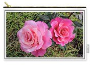 Portrait Of Sister Roses Carry-all Pouch