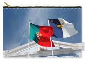 Portugal And Azores Flags Carry-all Pouch