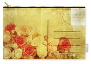 Postcard With Floral Pattern Carry-all Pouch