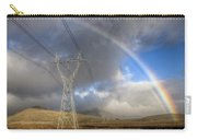 Powerlines, Rainbow Forms As Evening Carry-all Pouch