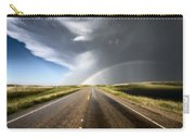 Prairie Hail Storm And Rainbow Carry-all Pouch