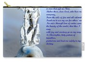 Prayer To St Christopher Carry-all Pouch