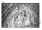 Prayers At Notre Dame - Black And White Carry-all Pouch