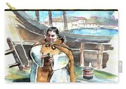Preaching The Bible On The Conquistadores Boat In Vila Do Conde In Portugal Carry-all Pouch by Miki De Goodaboom
