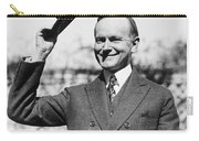 President Calvin Coolidge Tips Is Hat Carry-all Pouch