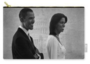 President Obama And First Lady Bw Carry-all Pouch by David Dehner