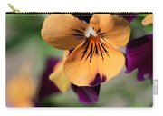 Prettiest Pansy Carry-all Pouch