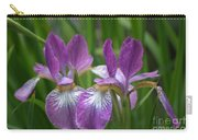 Pretty Pair Of Purple Irises Carry-all Pouch