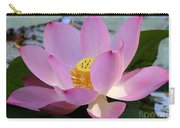 Pretty Pink Lotus Carry-all Pouch