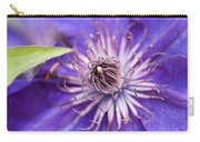 Pretty Purple Clematis Carry-all Pouch