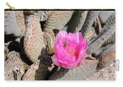 Prickly Pear Cactus Fertilized By Honey Bee Carry-all Pouch