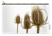Prickly Teasels On White Carry-all Pouch
