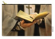 Priest With Open Bible Carry-all Pouch by Jill Battaglia