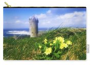 Primrose Flower In Foreground Carry-all Pouch