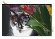Princess The Cat And Tulips Carry-all Pouch