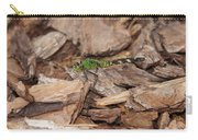 Profile Of Green Dragonfly Carry-all Pouch