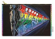 Projection With Rainbow Scroll Border Carry-all Pouch
