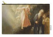 Prospero - Miranda And Ariel  Carry-all Pouch by Thomas Stothard
