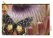 Protea With Speckled Butterfly Carry-all Pouch