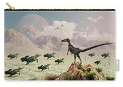 Protoceratops Stampede In Fear Carry-all Pouch