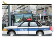 Proud Police Car In The City  Carry-all Pouch