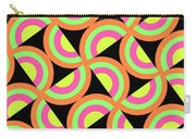 Psychedelic Squares Carry-all Pouch by Louisa Knight