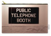 Public Phone Booth Carry-all Pouch