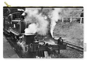 Puffing Billy Black And White Carry-all Pouch