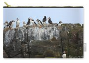 Puffins On A Cliff Edge Carry-all Pouch