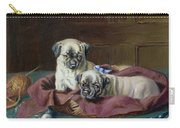 Pug Puppies In A Basket Carry-all Pouch