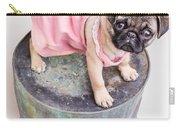 Pug Puppy Pink Sun Dress Carry-all Pouch