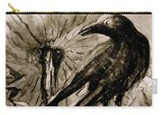 Pumpkin And Crow Carry-all Pouch