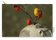 Pumpkin On A Stick In An Old Primitive Moonshine Jug Carry-all Pouch by Kathy Clark
