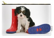 Puppies With A Childs Rain Boots Carry-all Pouch