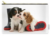 Puppies With Rain Boots Carry-all Pouch by Jane Burton